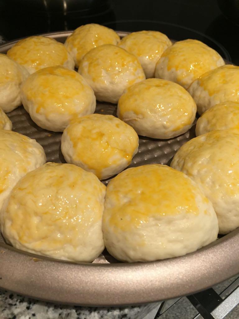 massa pão de batata recheado
